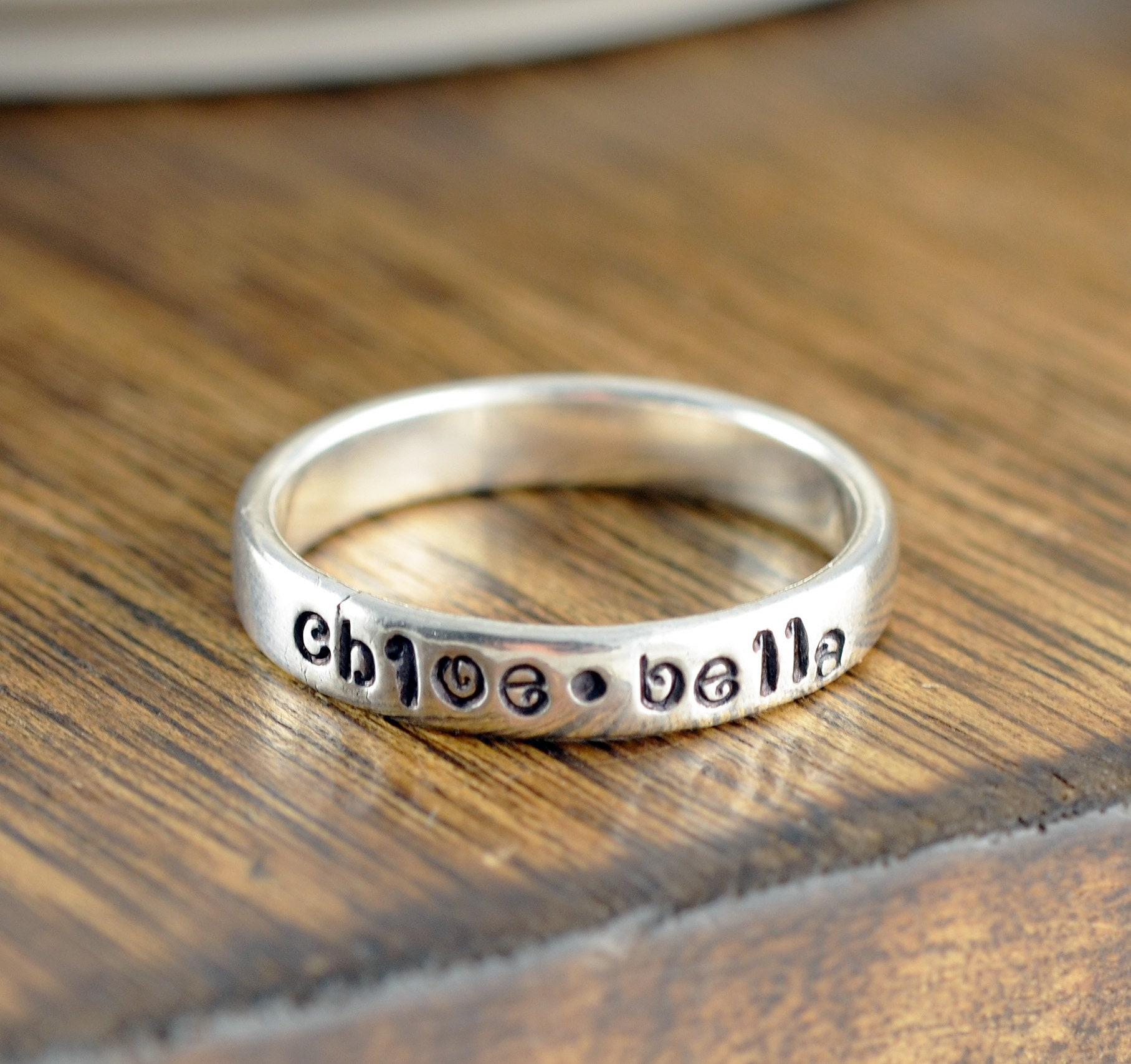 United Sterling Silver Ring Size 4 Engraved. Fine Rings