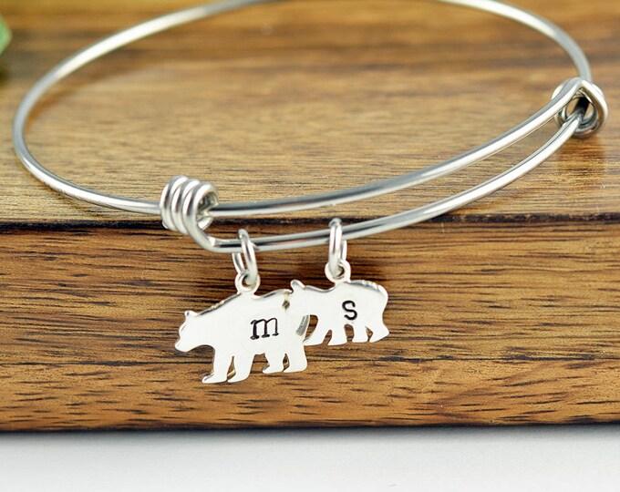 Mama Bear, Baby Bear Bracelet - Mama Bear Jewelry - Bear Cubs Bracelet - Bear Cub Jewelry - Mothers Bracelet - Mom Bracelet - Daughter Gift
