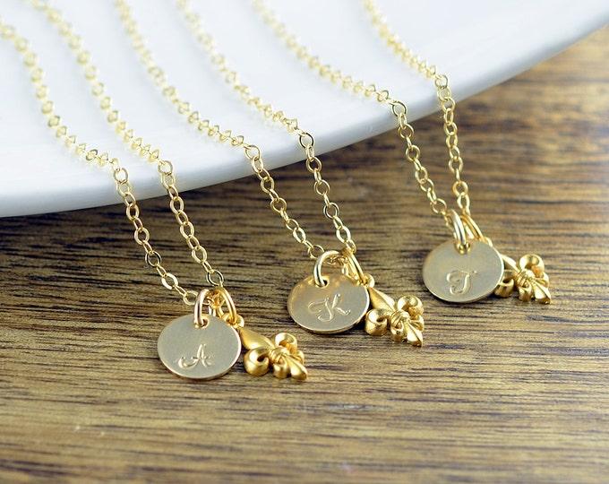 Fleur De Lis Necklace, Necklaces for Women, Necklaces for Bridesmaids, Bridesmaid Gift, Wedding Gift, Bridesmaid Gift, Bridesmaid Jewelry