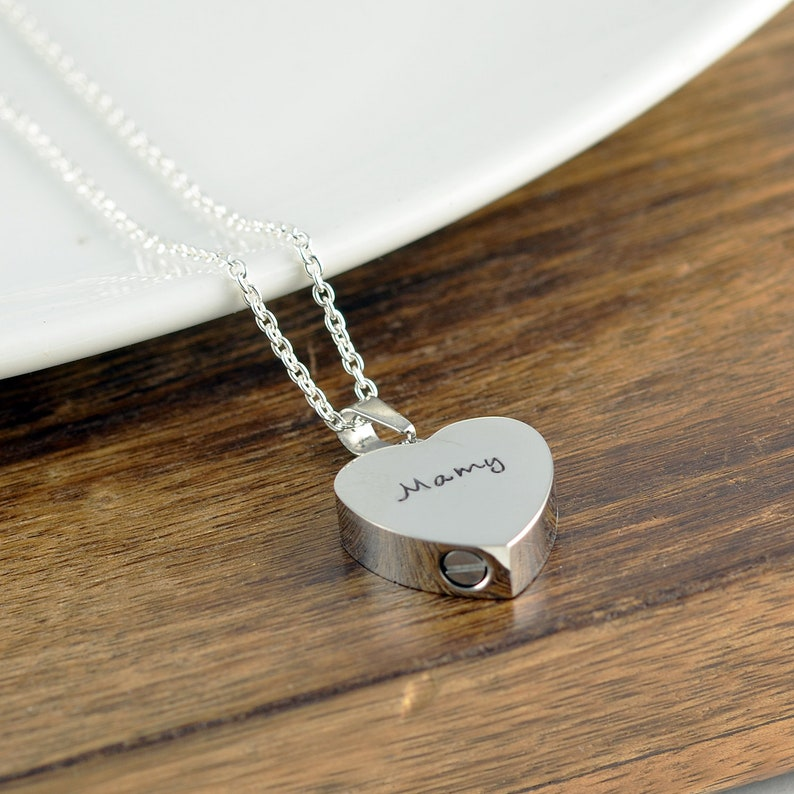 e43d8d63b9432 Personalized Cremation Jewelry, Ash Jewelry, Heart Cremation Pendant, Urn  Necklace For Ashes, Silver Heart Necklace, Cremation Necklace