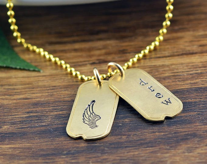 sympathy gift - memorial necklace -remembrance necklace- bereavement gift - personalized necklace - gift for him - mens jewelry - dad gift