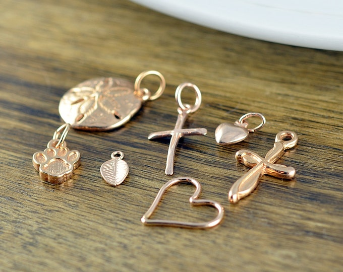 Rose Gold Charm, Add A Charm, Add On, Rose Gold Charms