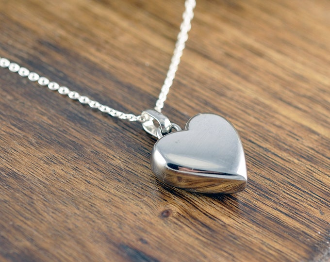 Cremation Jewelry, Ash Jewelry, Heart Cremation Pendant, Urn Necklace For Ashes, Silver Heart Necklace, Cremation Necklace