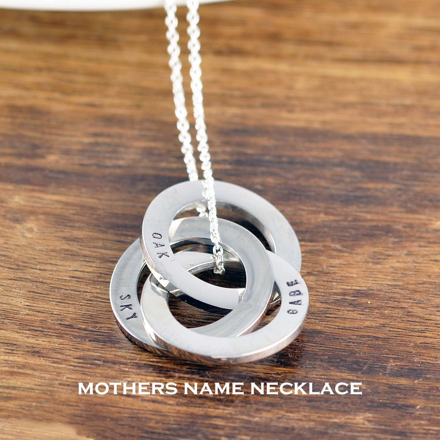 Personalized Mothers Necklace Gift For Mom Name