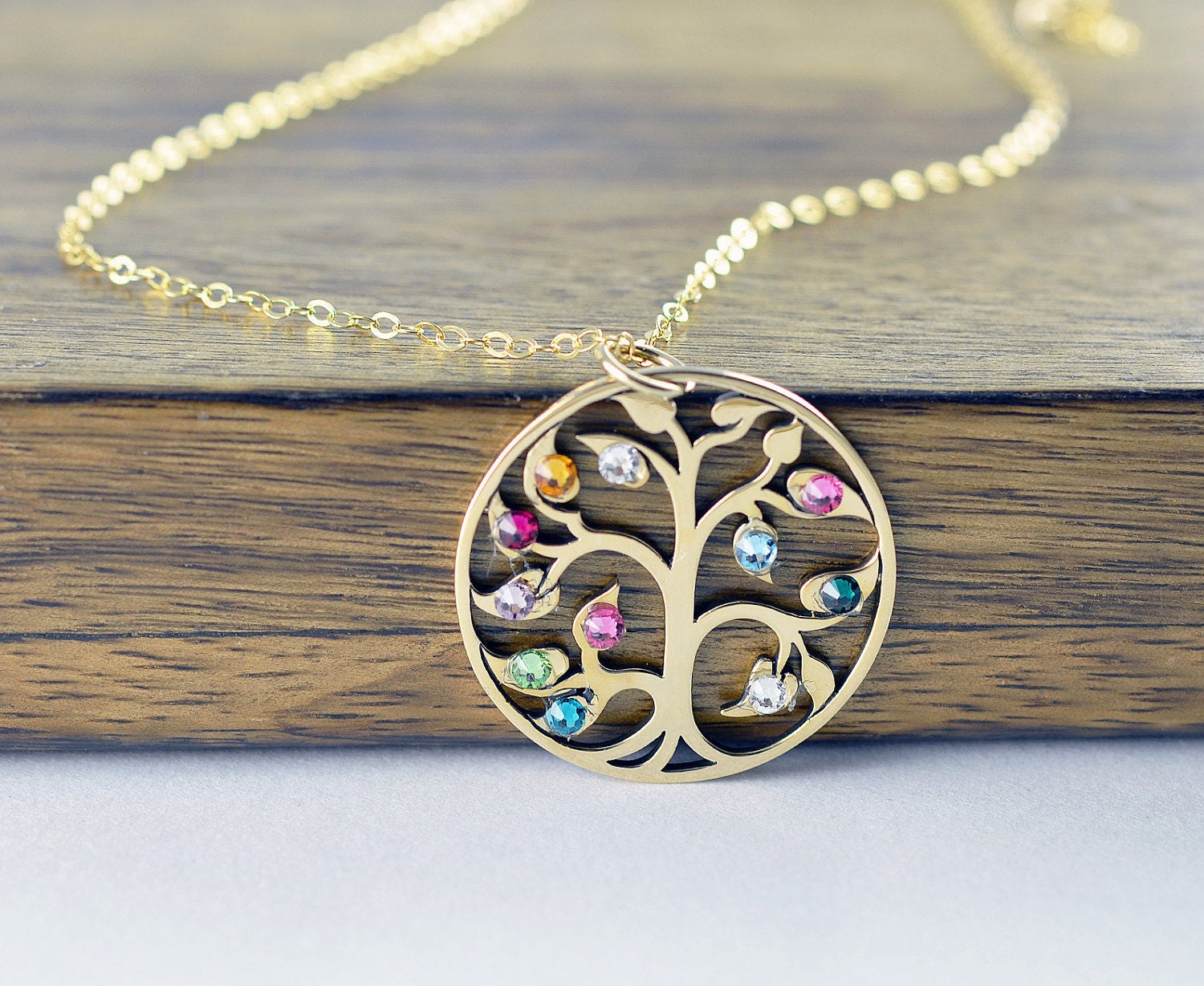 Grandmother Jewelry Personalized Grandmother Necklace Mother Necklace Tree of Life Mother/'s Day Gift for Grandma Family Tree Necklace