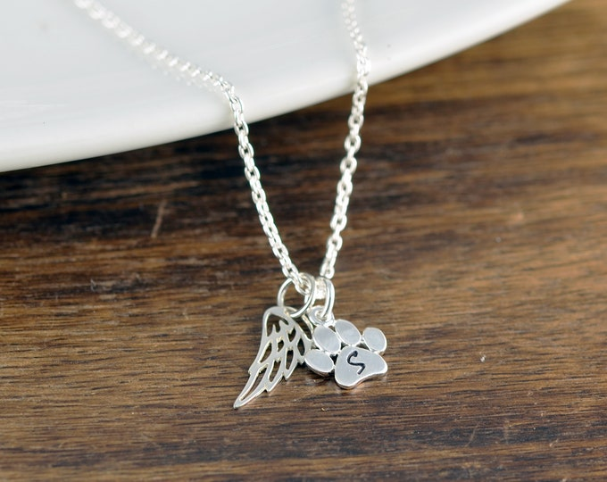 Silver Dog Paw Necklace, Pet Memorial Jewelry, Dog Paw Charm Necklace, Dog Lover Necklace, Dog Lover Gift, Animal Lover Gift, Dog Mom Gift
