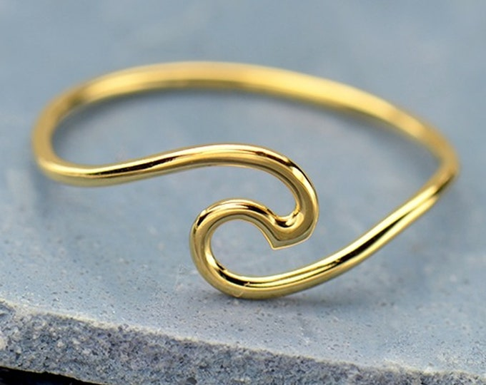 Wave Ring, Gift for her, Surfer Gift, Beach Lover Gift, Minimalist Jewelry, Bridesmaid Gift, Best Friends Gift