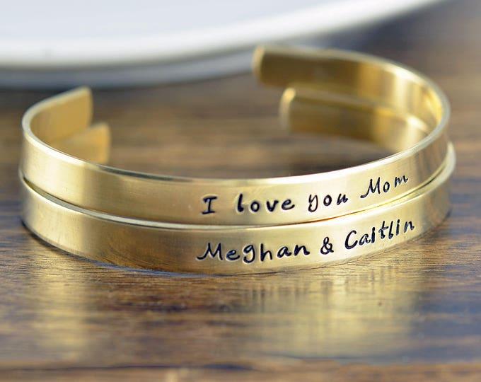 Custom Cuff Bracelet, Personalized Cuff in Copper, Brass, Silver, Personalized Jewelry, Mothers Bracelet, Mommy Jewelry, Friendship Bracelet