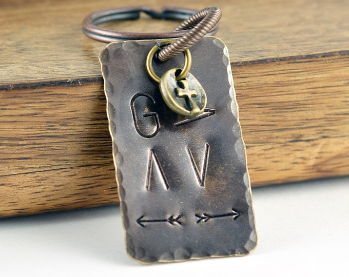 Mens Keychain, Mens Gift, Personalized Keychain, Boyfriend Gift, Gifts for Him, God Is Greater, Religious Gift, Christian Gifts