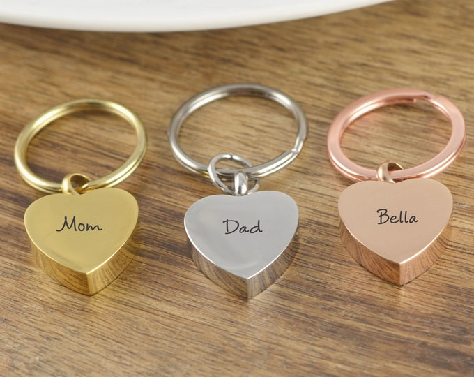 Cremation Keychain, Cremation Jewelry, Urn keychain For Ashes, Cremation keyring, Cremation Keepsake, Loss of Mother. Loss of Dog