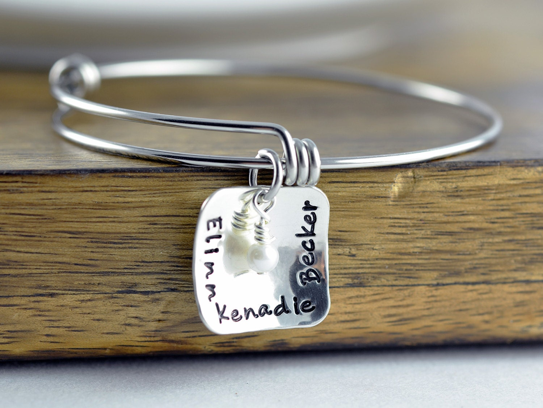 ba058fc69263 Personalized Sterling Silver Bangle Bracelet