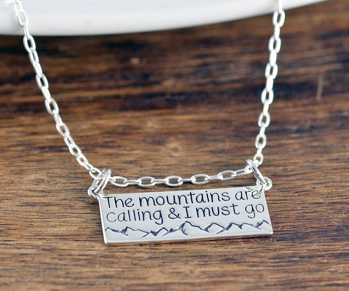 d22338c2c5aed The Mountains Are Calling and I Must Go Necklace - Mountain Necklace ...