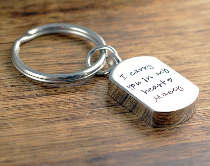 I carry you in my heart, Cremation Jewelry, Cremation keychain, Urn keychain For Ashes, , Cremation keyring, Cremation Keepsake