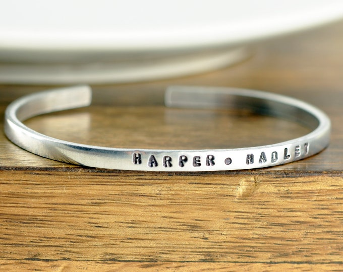 Name Cuff Bracelet, Personalized Mother Bracelet, Mommy Bracelet, Custom Name Bracelet, Mothers Day Gift, Gift for Mom, Mother's Jewelry