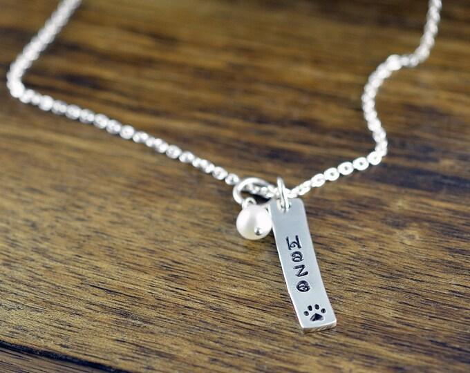 Dog Paw Necklace, Dog Paw Jewelry, Dog Mom Gift, Dog Paw Charm, Dog Charm Necklace, Dog Lover Necklace,Dog Lover Gift, Animal Lover Gift