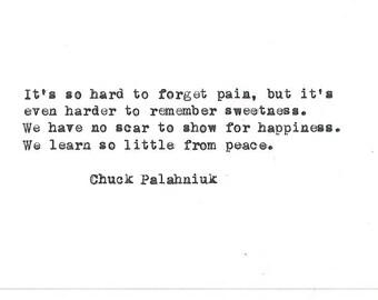 Chuck Palahniuk Hand Eingegeben Schreibmaschine Zitat