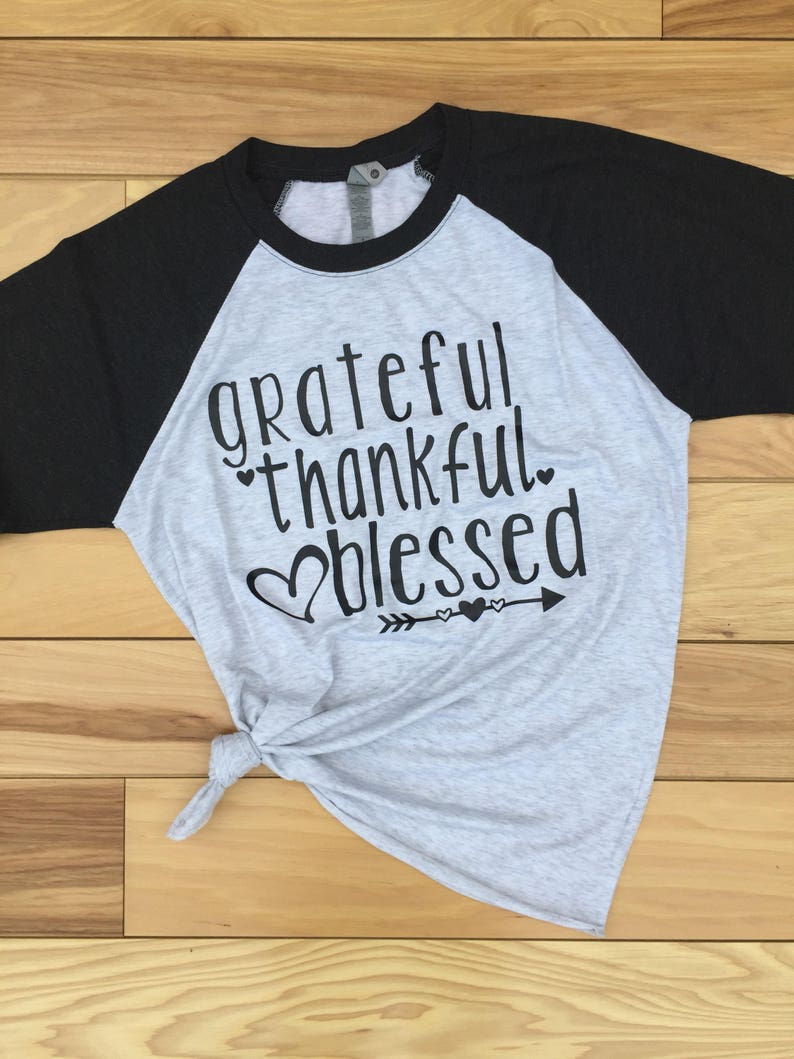 4d0d96ef Grateful Thankful Blessed Shirt Women's Thanksgiving | Etsy