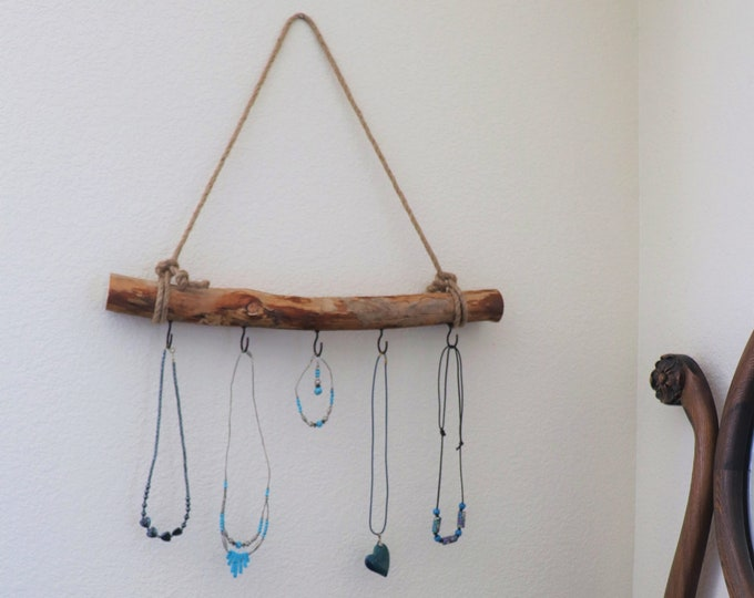 Natural Wood Jewelry Hanger / Necklace Hanger / Bow Hanger / Headband Hanger with Rustic Country Charm