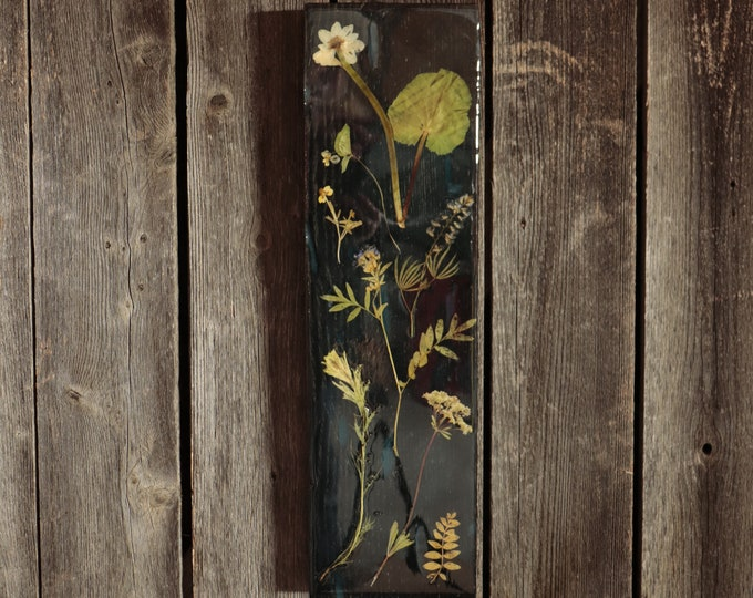 Wildflower Wood Art with Epoxy Resin! Real Wild flowers from Idaho on pine wood to hang on your wall. Give you place a little bit of nature.