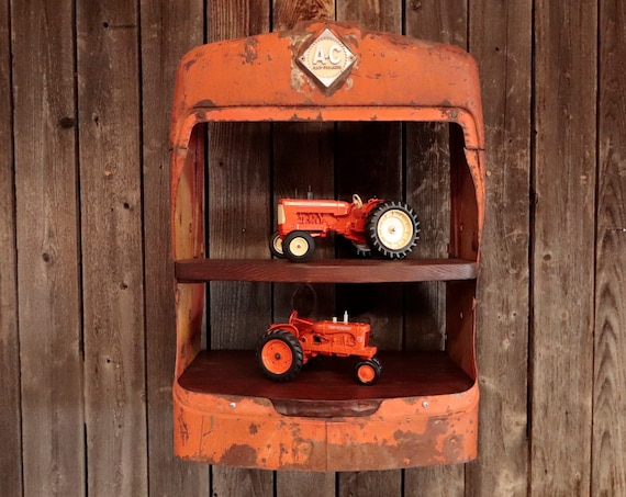 Rustic Allis Chalmers D15 Vintage Tractor Grill Shelves -Spruce up your office, shop, man cave, bar, or living room!