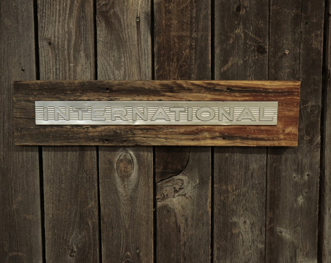 """International Harvester Farmall Barn Board Sign 26"""", Great for decorating your home, man cave, shop, bar or restaurant."""