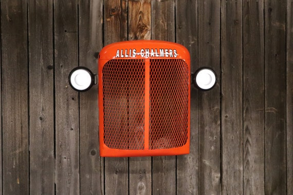 Vintage Allis Chalmers Tractor Grill Wall Hanging/ Lighted/ Man Cave/ Farmer/ Husband Gift/ Country/ Restaurant/ Farming/ Steampunk/ Bar