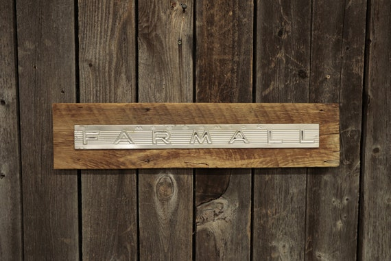 "Farmall Barn Board Sign 26"", Great for decorating your home, man cave, shop, bar or restaurant."