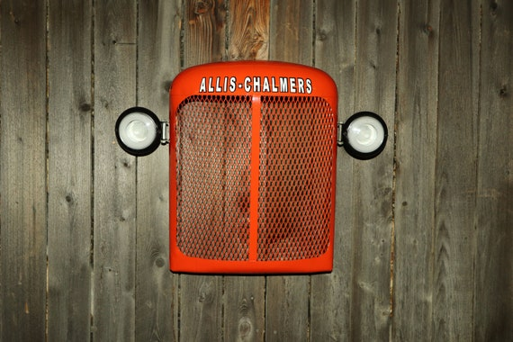 Allis Chalmers Tractor Grill Wall Hanging - Lighted - Man Cave - Farmer - Husband Gift- Country - Restaurant- Farming - Steampunk - Bar