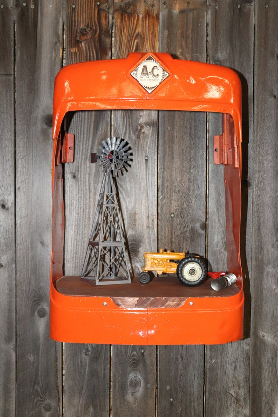 Allis Chalmers D14 Tractor Grill Shelves - Man Cave Shelf - Vintage Tractor Grill - Tractor Grill Shelf - Farmer - Country Decor