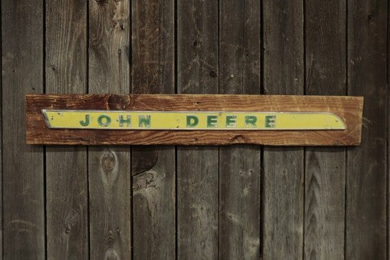 "John Deere Barn Board Sign 41"", Great for decorating your home, man cave, shop, bar or restaurant."