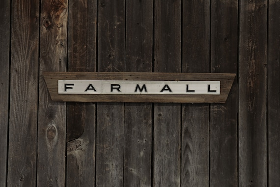 "Farmall Barn Board Sign 34"", Great for decorating your home, man cave, shop, bar or restaurant."