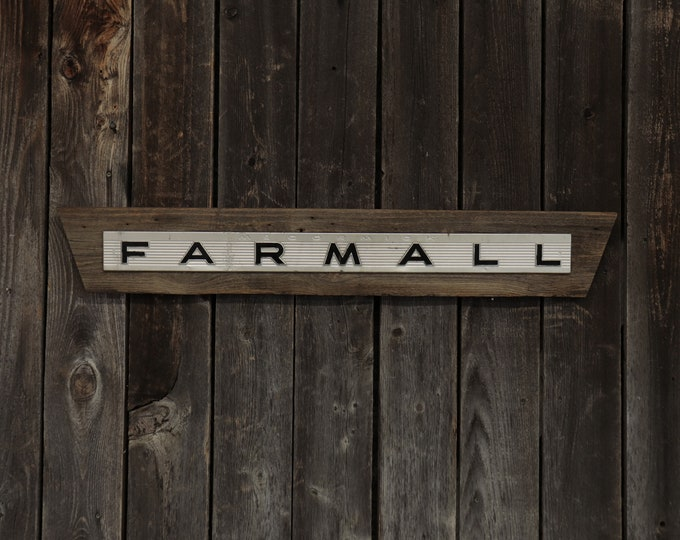 """Farmall Barn Board Sign 34"""", Great for decorating your home, man cave, shop, bar or restaurant."""