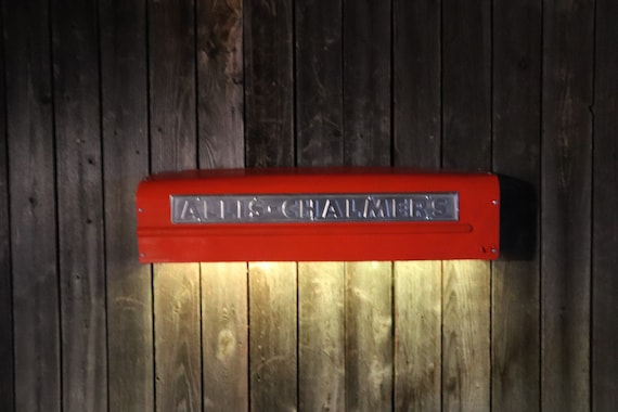 Allis Chalmers Tractor Panel /Man Cave Light/Tractor Grill - Farmhouse chic Would look great in livingroom, shop, game room, bar, restaurant