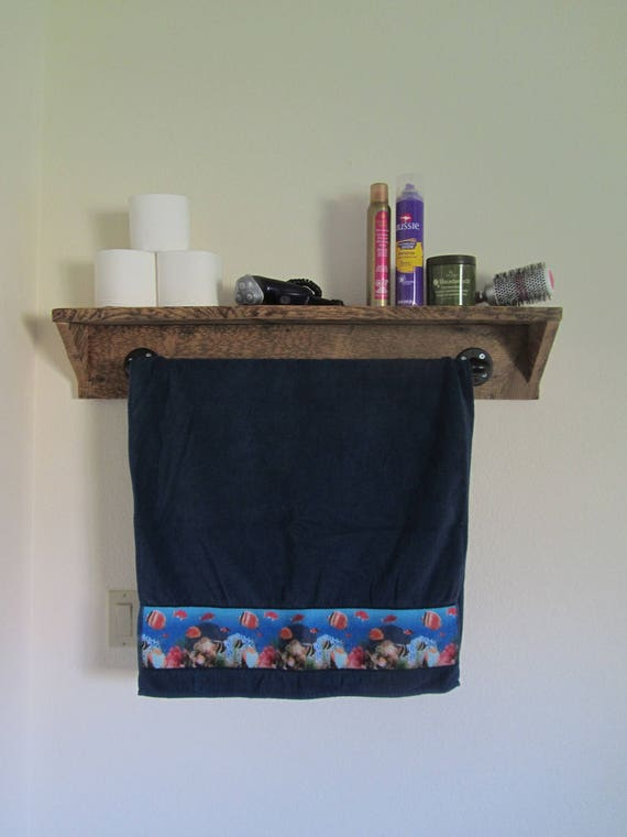 "Barn Board Bathroom Shelves Shelf, 36"", Barn Wood Shelf, Country, Home Decor, Rustic, Kitchen, Reclaimed Barnboard"