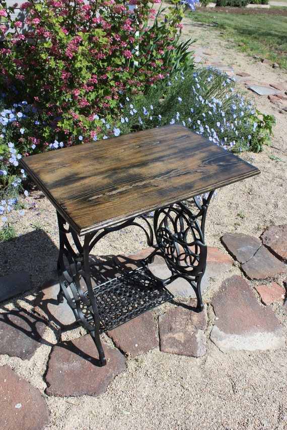 Treadle Sewing Machine Table - rarer than Singer - antique table - Hallway Table - entry way table- side table