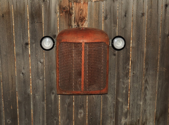 Allis Chalmers Tractor Grill Wall Hanging - Lighted - Man Cave - Farmer - Husband Gift- Country - Americana - Farming - Steampunk