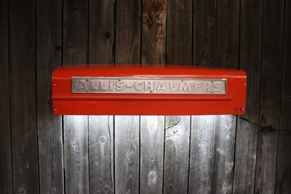 Allis Chalmers Tractor Panel /Man Cave Light/Tractor Grill - Farmouse chic- Would look great in livingroom, shop, game room, bar, restaurant
