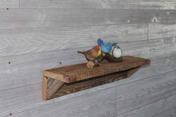 "24"" Barn Wood Shelf Shelves - Barn Board Shelves Shelf - Rustic, Country, Man Cave, Home Decor, Kitchen, Living Room"