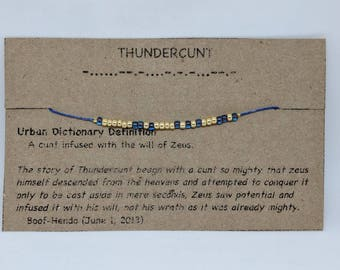 thundercunt inappropriate morse code bracelet - Mexican Christmas Urban Dictionary