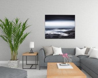 Holocene. 16 x 20 inches. Acrylic Seascape painting, Landscape painting, Abstract art, original art, modern art, Home decor, Wall art
