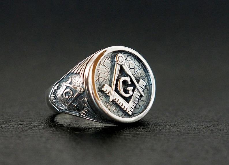 Masonic Rings, Freemason Ring, Master Mason Rings, Mens Masonic Rings,  Freemasonry Masonic Jewelry925 Sterling Silver