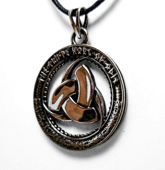 Horned Triskele Odin's Horn Viking Nordic Metal Wall Art Triple Horn of Odin