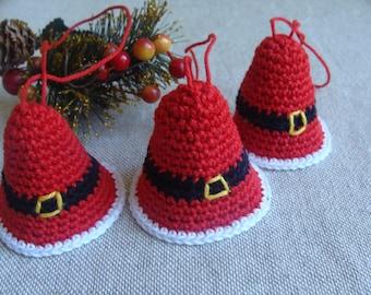 Christmas Bell Ornaments Handmade PATTERN, Christmas Decorations, Crochet Bell, Christmas Ornaments, Christmas Tree Decor, Xmas Ornaments