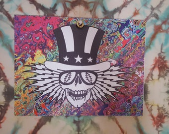 Grateful Dead Skeleton ~ Corrugated Plastic Festival Sign