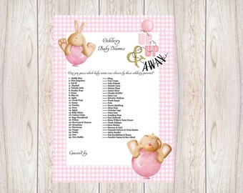 Celebrity Baby Name, Pink,Girl,Baby Shower Ideas,Printable,Baby Shower Games,Mummy,Bunny,Teddy, baby shower,Gold,Glitter,Baby Shower,001