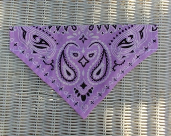 Lavender Dog Bandana Over The Collar, Pet Bandana, Dog Scarf, Dog Clothes,Cat Bandana, Pet Collar