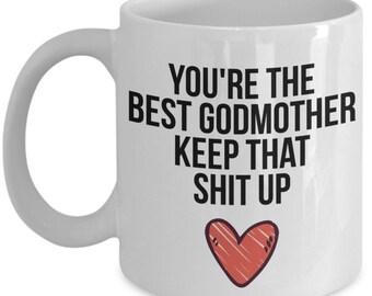 Godmother Mug Gift For Christmas Birthday Funny
