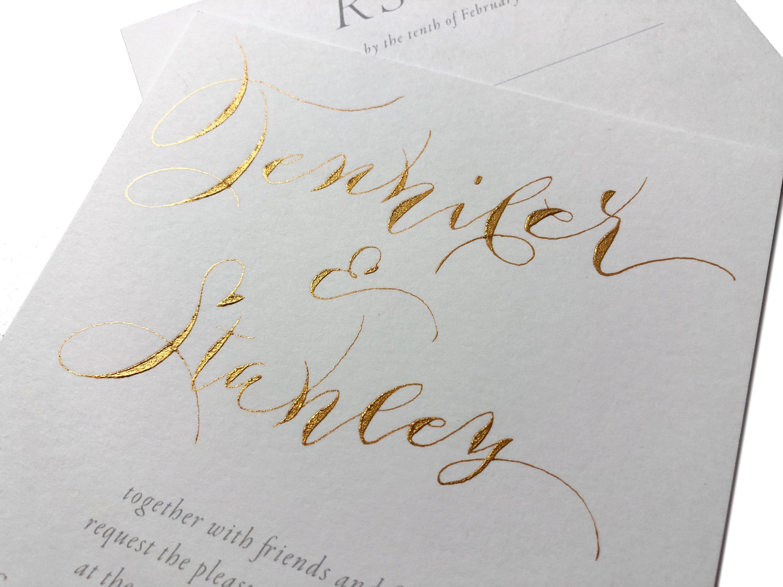 Alternative Wedding Invitations: Cheap Alternative To Gold Foil Wedding Invitations. Hand