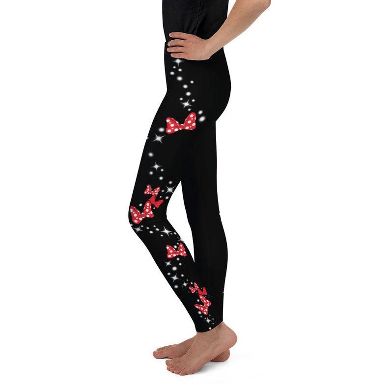 Youth Leggings Bow Magic Leggings Bow Magic Disney Inspired-Leggings Disney cosplay yoga leggings workout leggings run Disney