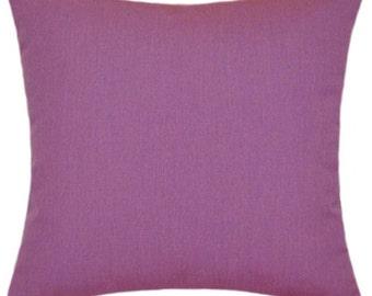 Sunbrella Canvas Iris Purple Indoor/Outdoor Solid Pillow